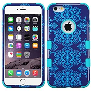 MyBat iPhone 6 Plus l TUFF híbrido de teléfono carcasa del protector - empaquetado al por menor - azul / púrpura / Teal