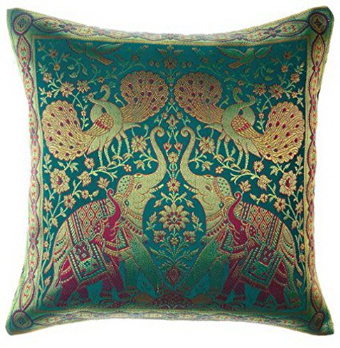 sila-india-style-elephant-peacock-throw-pillow-cover-decorative-sofa-couch-cushion-cover-zippered-16