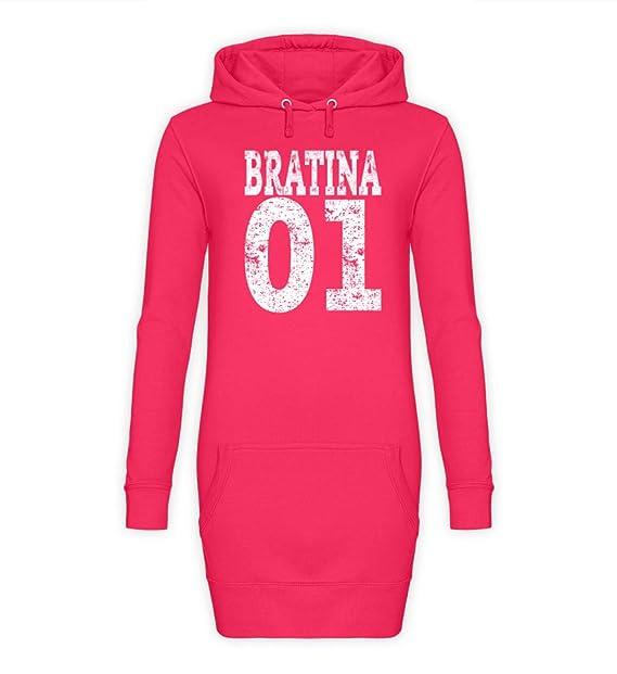 Hip Hop Bratina 01 Rap Schwester Russisch Brate Bratan Geschenk - Damen Hoodie-Kleid
