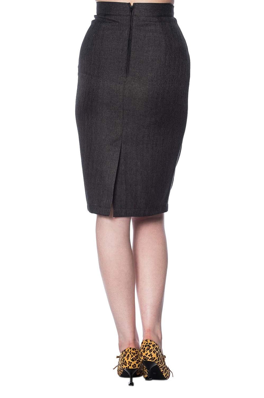 7ec4833623 Banned Secretary Plus Size Pencil Skirt - UK-22 Grey: Amazon.co.uk: Clothing