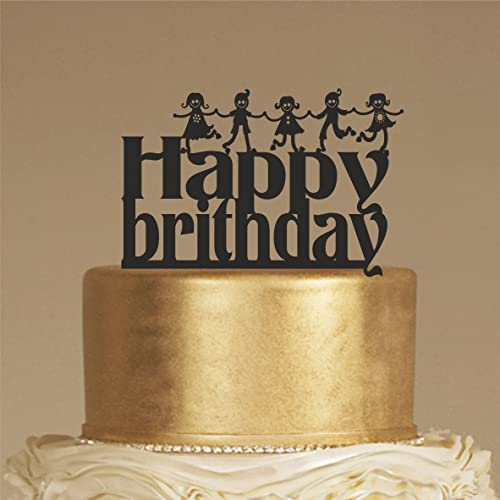 Customized Birthday Cake Topper For Rustic