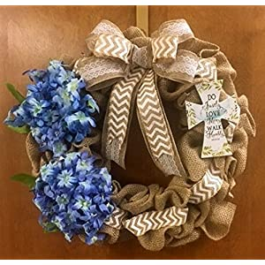 Easter, Spring, Religious Door Burlap Wreath with Cross. Do Justly Love Mercy Walk Humbly - Micah 6:8 5