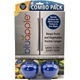 Bluapple Produce Saver One Year Combo Pack - Contains Two Freshness Balls and Eight Refills - to Keep Produce Fresher Longer by Absorbing Ethylene Gas in The Refrigerator Or Fruit - Vegetable Bowl