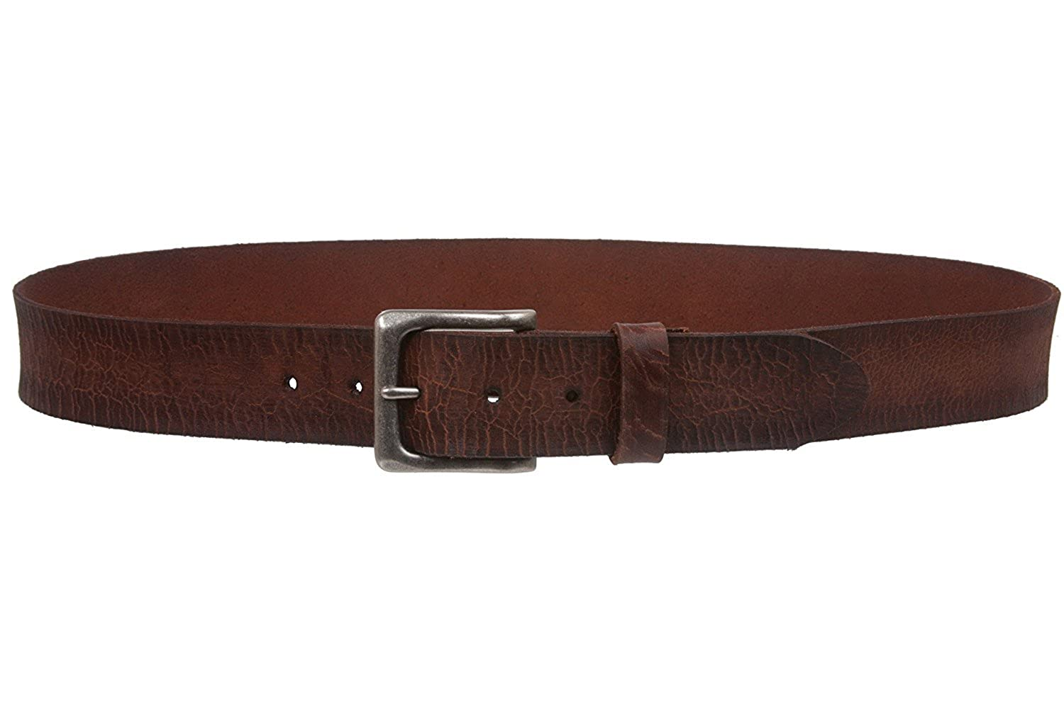 MONIQUE Women Cowhide Full Grain Leather Distressed Casual Snap On 1.5 Belt
