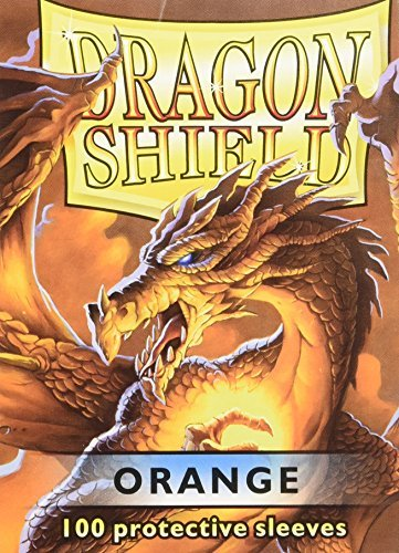 Protective Card Sleeves (100 Count), Orange by Dragon Shield