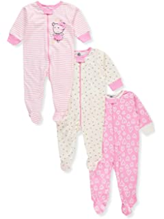 602524cd1 Amazon.com  Gerber Baby Girls  2 Pack Zip Front Sleep  n Play  Clothing