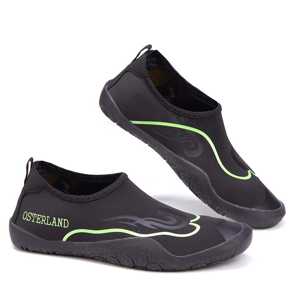premium selection c618e f2f82 OSTERLAND Hombre Mujer Aqua Water Barefoot Swim Shoes Verde negro