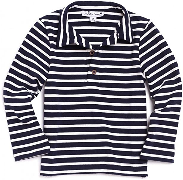 Busy Bees Long Sleeve Polo