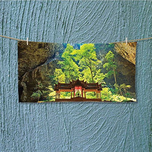 quick dry towel Latent Pavilion in Between the Cliffs Discovery of Faith in the Art Lightweight, High Absorbency L27.5 x W11.8 INCH by alsoeasy