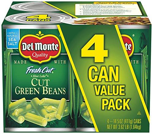 Del Monte Canned Fresh Cut Blue Lake Green Beans, 14.5 oz, 4 - Lake Shopping Side