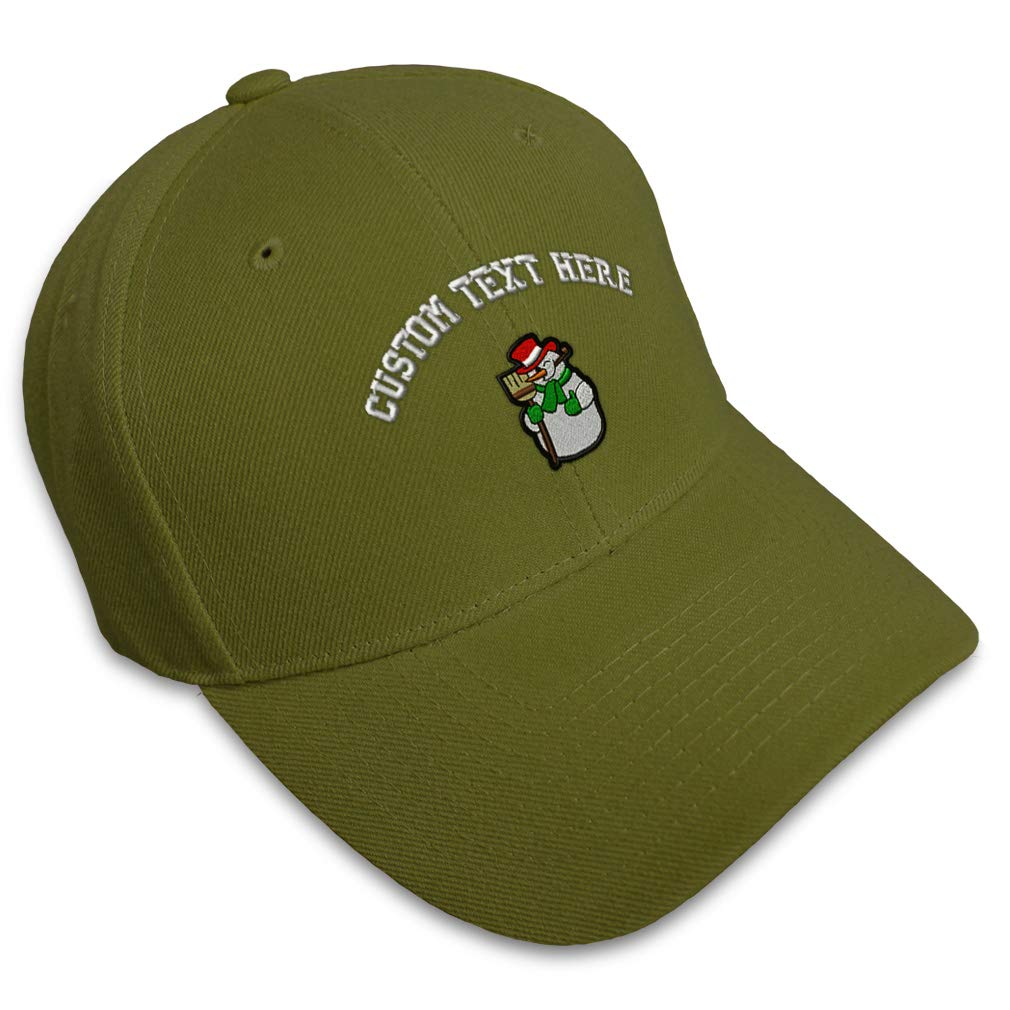 Custom Baseball Cap Snow Figure B Embroidery Acrylic Dad Hats for Men /& Women