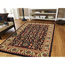 Black Traditional Rugs 2x3 Oriental Rug Area Rugs Cheap 2x4 Entrance Rug Washable