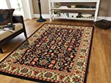 Black Traditional Rugs 2x3 Oriental Rug Area Rugs Cheap 2x4 Entrance Rug...