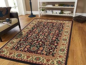 amazon com large area rug 8x11 oriental rugs black persian rug