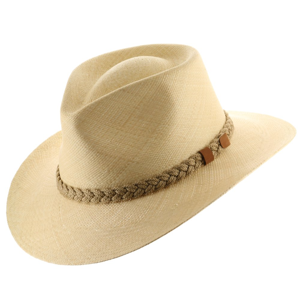 AUTHENTIC AFICIONADO STYLE PANAMA HAT NATURAL STRAW BIG BRIM 7 3/8