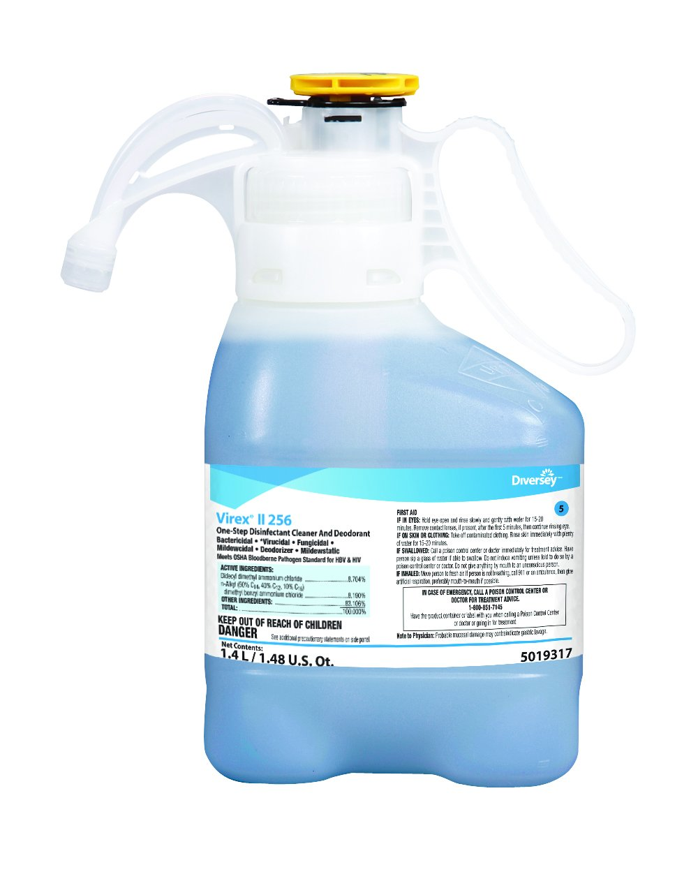 Diversey Virex II 256 Broad Spectrum Disinfectant (47.3-Ounce, 2-Pack)