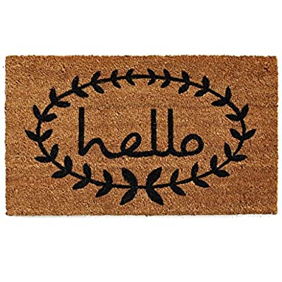 Home & More Calico Hello Doormat