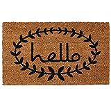 Home & More 121812436 Calico Hello Doormat 2-Feet X 3-Feet