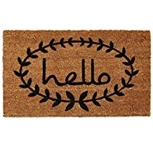 Home & More 121812436 Calico Hello Doormat 2-Feet X 3-Feet
