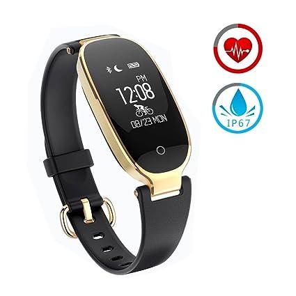 Reloj Inteligente mujer ZKCREATION Fitness Tracker K3 Bluetooth Smartwatch Pulsera Inteligentes Actividad Monitor Cardio Podómetro IP67