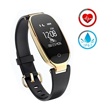 Reloj Inteligente mujer ZKCREATION Fitness Tracker K3 Bluetooth Smartwatch Pulsera Inteligentes Actividad Monitor Cardio Podómetro IP67 impermeable monitor ...