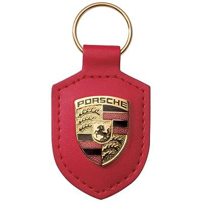 Porsche Crest Keyring - Red: Automotive