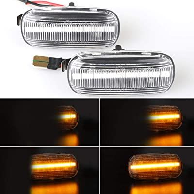 Dynamic Flowing SMD Smoke Amber Led Side Marker Turn Signal Light for Audi A3 S3 8P A4 S4 RS4 B6 B7 B8 A6 S6 RS6 C5 C7 White Indicator Lamp Replacement: Automotive