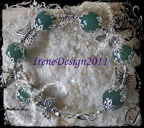 Green Aventurine & Butterfly Bracelet