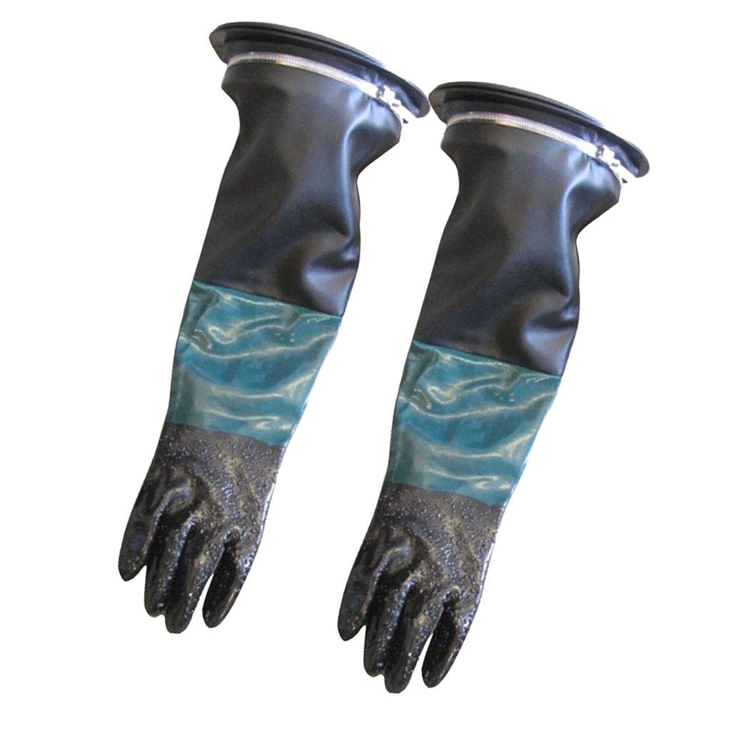 Fenteer 1 Paire Gants de Protection de Travail Gants Antidé rapants Sableuse - 60cm #1