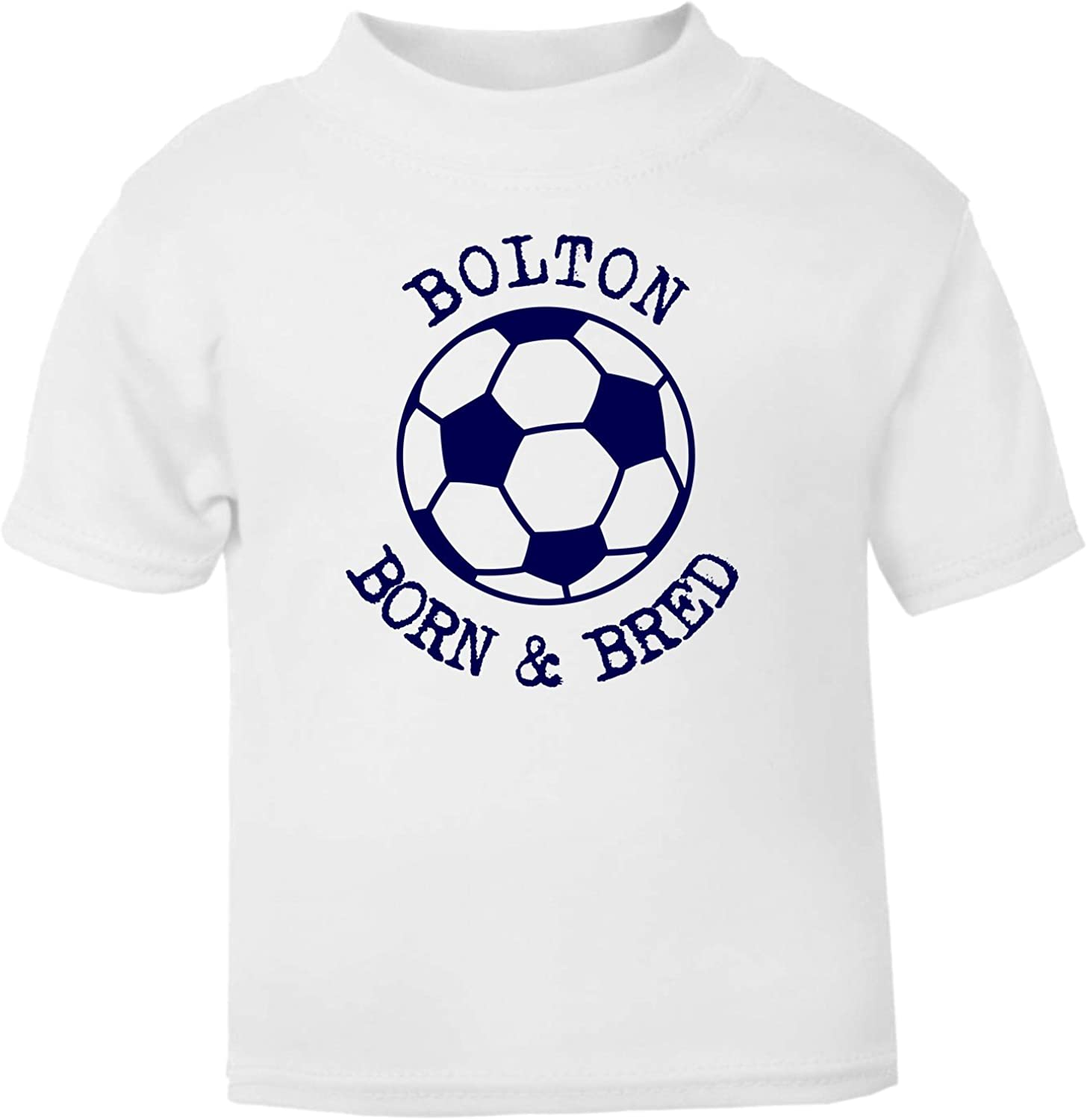 Hat-Trick Designs Bolton Wanderers Football Baby Childrens T-Shirt Top-White-Me /& My-Unisex Gift