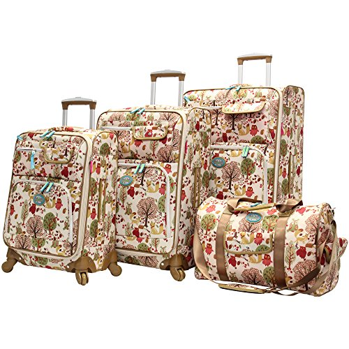lily-bloom-4-piece-luggage-collection-with-spinner-wheels-for-woman-forest