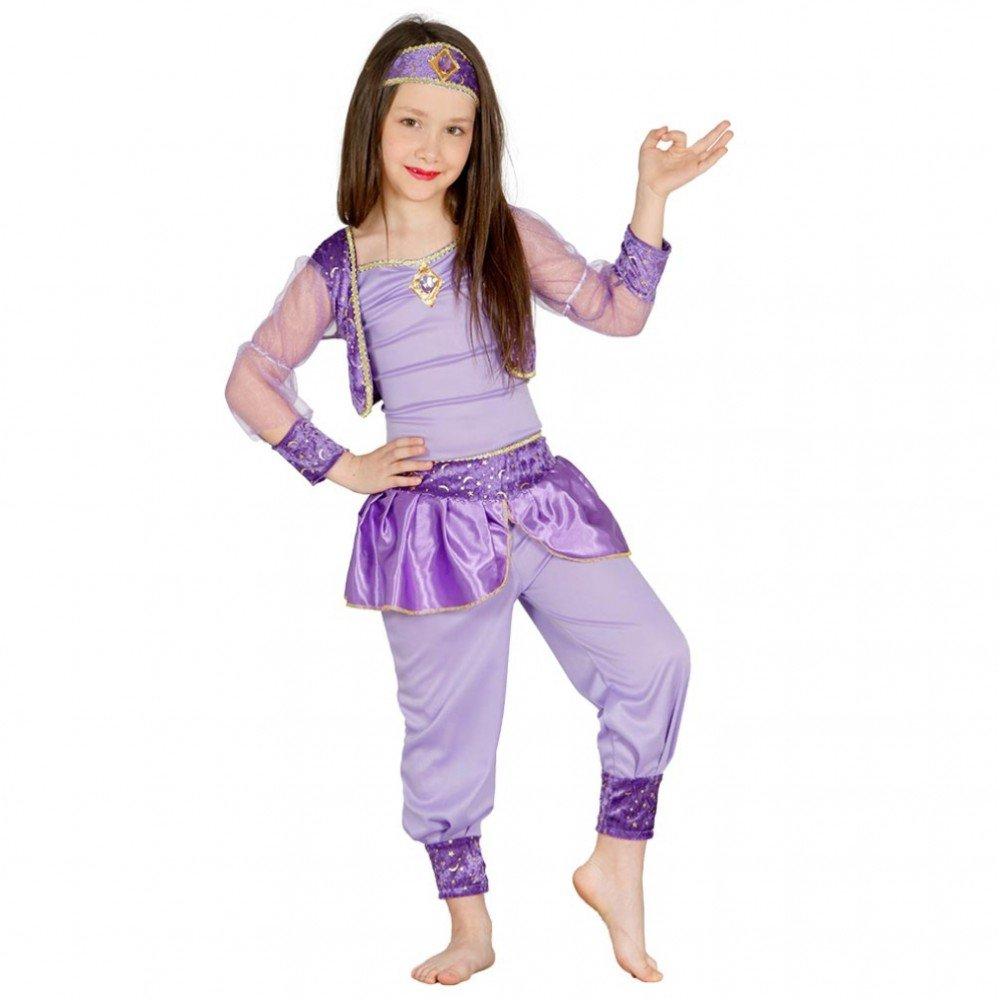 Guirca Costume danzatrice del Ventre odalisca Carnevale Bambina Taglia 7-9 Anni, Colore Lilla, (125-135 cm), 8595 85957