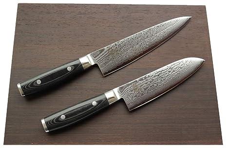 Compra Damasco-Set Yaxell Ran 69 - cuchillo de cocina de + ...