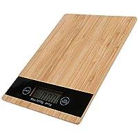 Balança Digital Cozinha Madeira Bambo 5Kg UnyHome BC180701