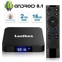 [Android 8.1 TV-Box] Leelbox Smart-TV-Box Q2 MINI Quad Core 2 GB RAM + 16 GB ROM/ 4K * 2K UHD H.265/ HDMI/USB * 2/ WLAN-Media-Player/Android-Set-Top-Box mit Voice-Fernbedienung