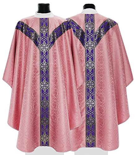 Rose Semi Gothic Chasuble GY201-R25 (rose)