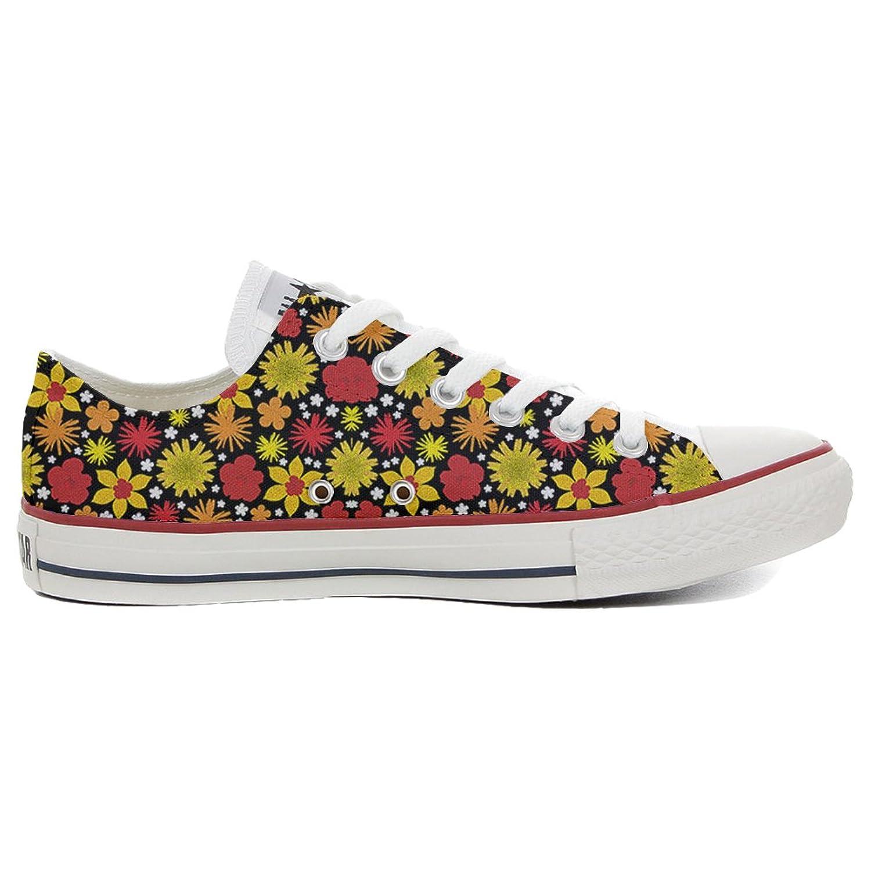 Converse All Star Slim personalisierte Schuhe (Handwerk Produkt) Hot Colore Paisley  32 EU