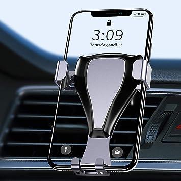 Warxin Soporte Movil Coche Gravedad, Automatico Ajustable Móvil Coche para Rejilla del Aire Rotación Universal Gravity Soporte Teléfono para iPhone Samsung Smartphone y GPS Móviles Dispositivo: Amazon.es: Electrónica