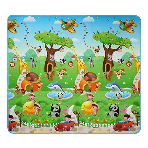 Hindom Waterproof Baby Kid Toddler Play Crawl Mat, Reversible Foam Floor Gym Rug for In/Out Doors,Non-Toxic Non-Slip (Type_6)