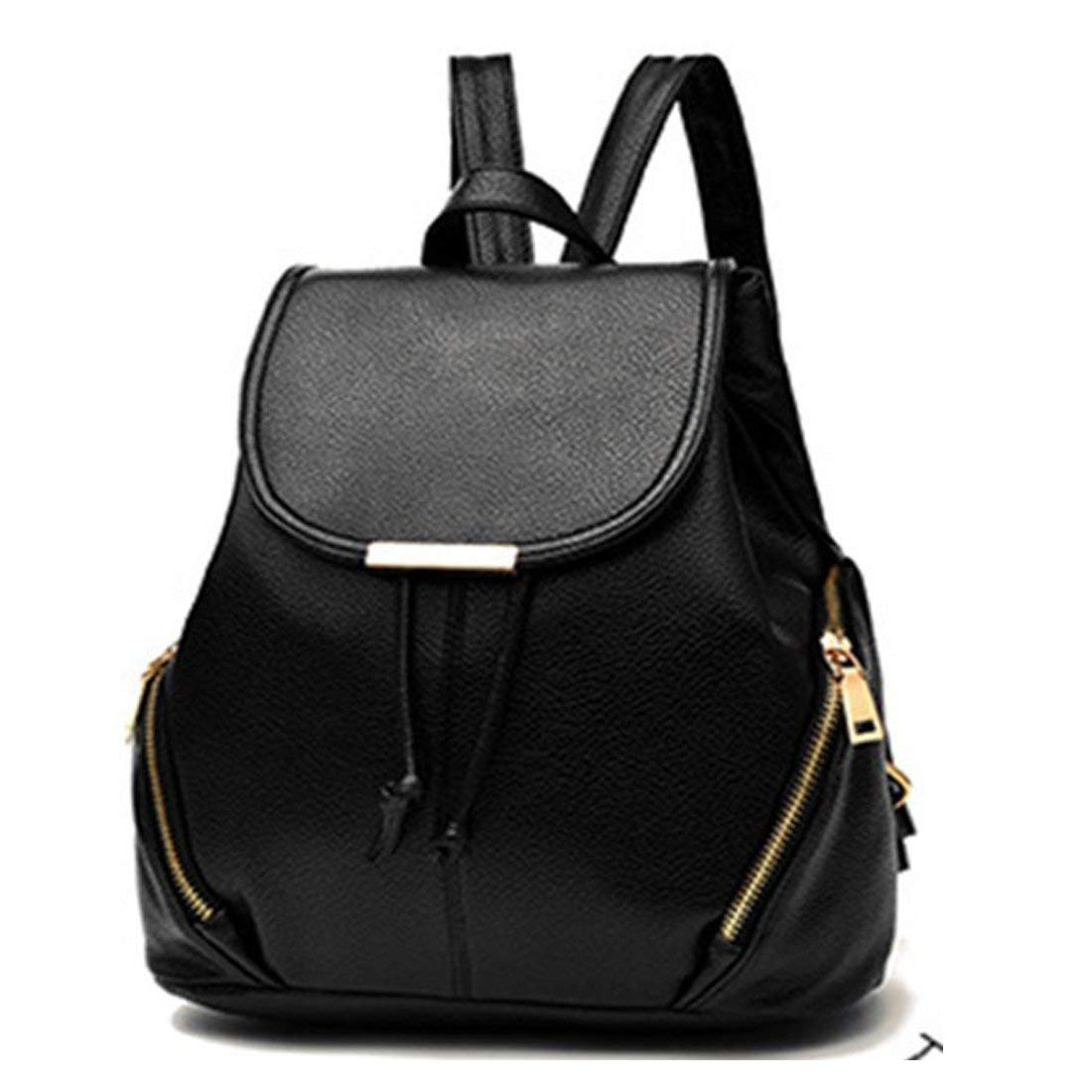558835e23ed2 Redlicchi PU Leather Backpacks Students School bags for Girls Teenagers  Travel Rucksack Black Color Small Shoulder Bag  Amazon.in  Bags