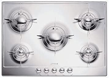 Smeg P75 Built-in Gas Hob Stainless Steel Hob - Plate (Built-in ...