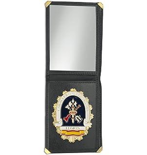 Outletdelocio. Cartera identificacion con Placa Escudo Aguila de España. 3 Compartimentos y Esquinas reforzadas: Amazon.es: Equipaje