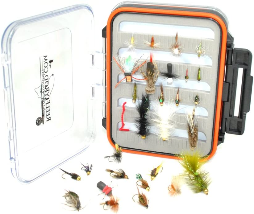 Superbe Flies 24 Adams Dry Fly Trout Fishing Assortment #18 Fly Size: #10 Waterproof Fly Box