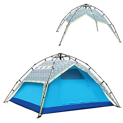 QFFL zhangpeng La tente épaississant la tente libre de tente de vitesse a ouvert la tente automatique extérieure camping 3-4 tentes bleues tente de cervelet