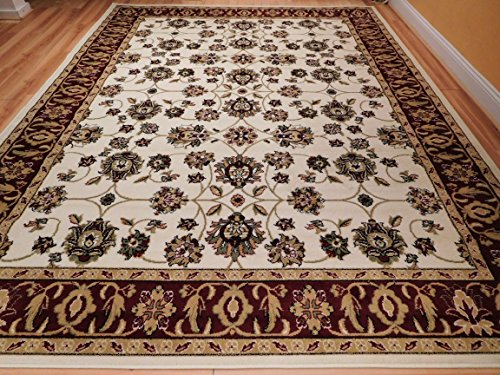 Large Rugs Cream Area Rug Living Room 8x10 Under 100 Allover Design Traditional Persian Area Rug Rugs, Large 8x11