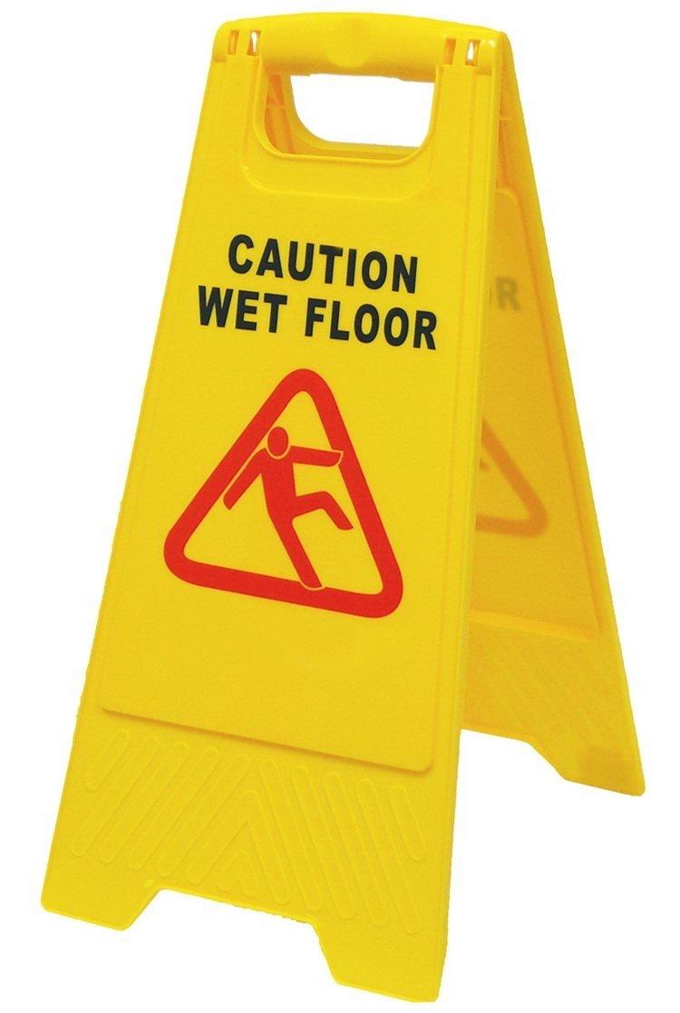 Precaución por suelo mojado cartel: Amazon.es: Hogar