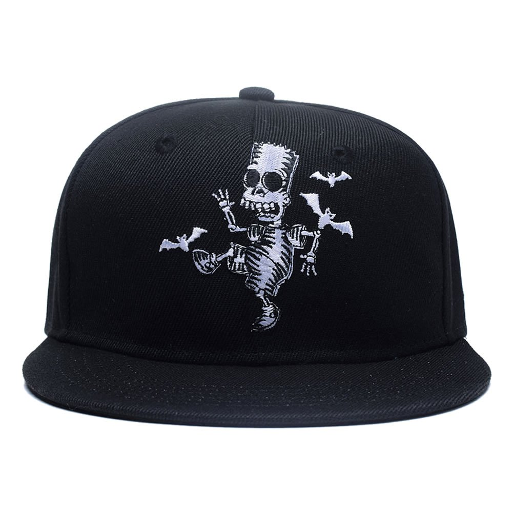 a71249707d6 Quanhaigou Skull Zombie and Bats Embroidery Snapback