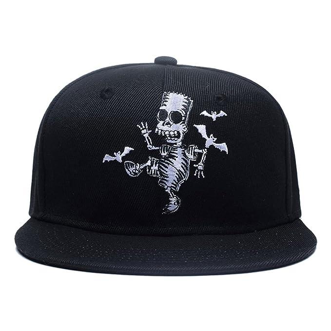 0dcae6821af Quanhaigou Skull Zombie and Bats Embroidery Snapback