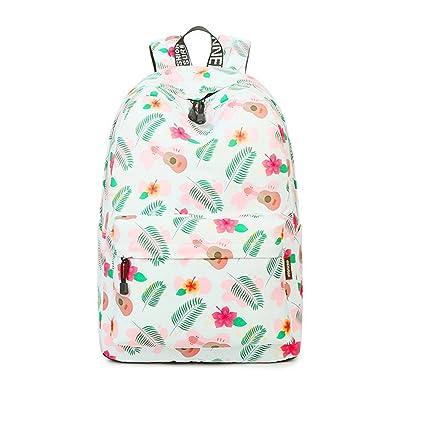 bc8892feae Winnerbag Moda impermeabile in tessuto poliestere donne zaino Beige fiori  femminili di stampa a grande capacità di viaggio portatile Schoolbags:  Amazon.it: ...