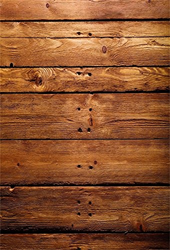 Leowefowa 3X5FT Vinyl Wood Backdrop Shabby Chic Texture Vintage Stripes Wooden Floor Photography Background Baby Shower Kids Adults Birthday Party Celebrate Photo Studio Props